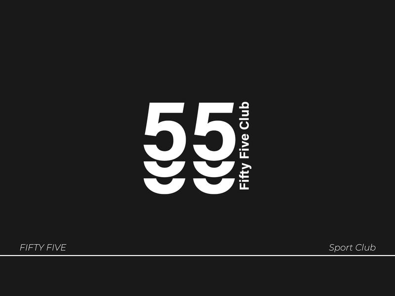 55 Club tech branding brand identity lettering vector logo type typography design