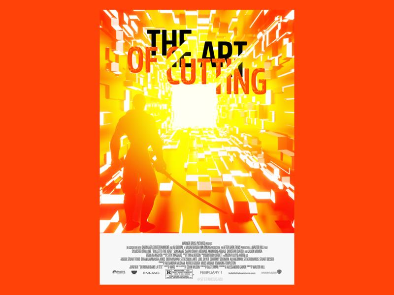 Poster Made using blender typography design