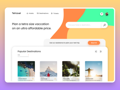 Tetravel / Travel and Booking
