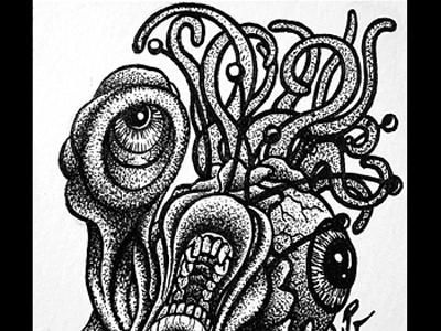 Tentacles and Eyeballs series card 7