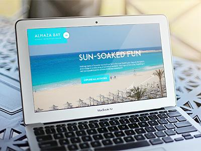 Almaza Bay website sketch responsive design website ui ux