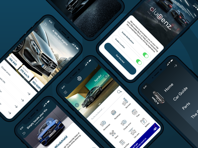 Clubenz   Designed for Mercedes-Benz owners dark app productdesign dailyui dark car scan guide dashboad community services owners mercedes-benz mercedes ui app ux design product design