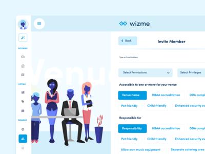 Wizme | Invite Member