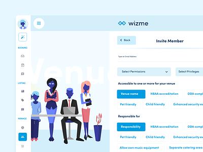 Wizme   Invite Member illustraion vector adobexd website design ux ui portal membership wizme
