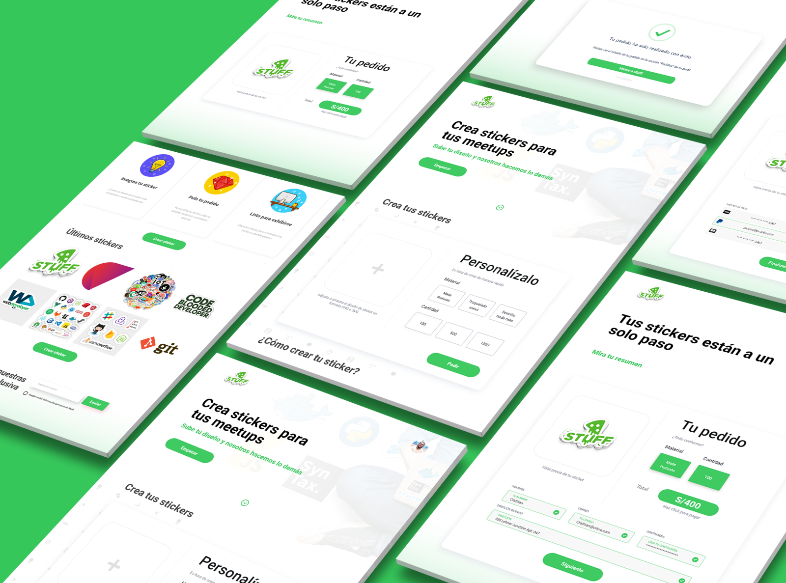 Custom stickers platform concept stuff by cristhian valle