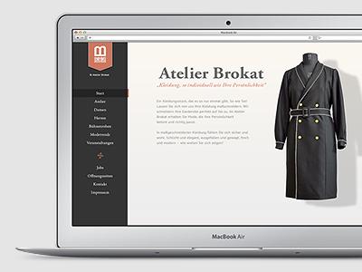 Fashion-Atelier Userinterface fashion webdesign interface interfacedesign website portfolio ui userinterface user-interface interface-design