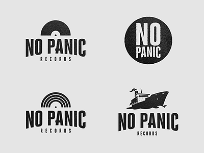 """No Panic"" Records - Logo Development logo branding logodesign typography logo-design logo design vinyl tape music record records logo development"