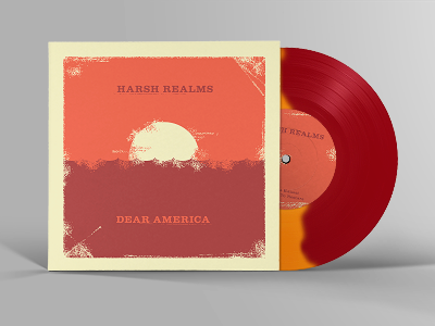 Harsh Realms / Dear America - Split 7inch Artwork artwork music vinyl punkrock sleeve cover 7inch