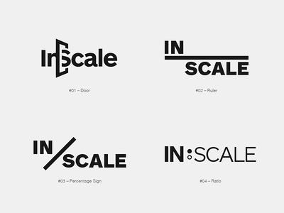 Inscale Logo Development logo branding identity logomark wordmark scale inscale redesign logotype