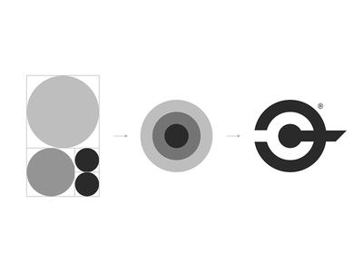 CC-Logo Construction logo branding identity construction ratio golden ratio icon symbol