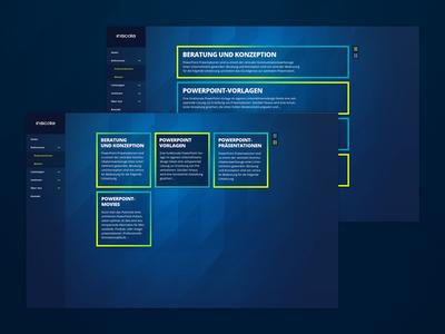 Inscale Re-Branding dark interface responsive webdesign data nui ui ux interface website