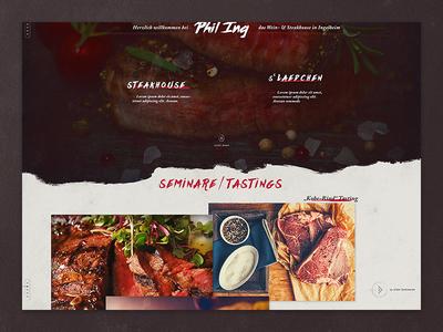 Steak- & Grillhouse Website ux ui restaurant steakhouse grill interface webdesign
