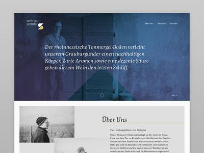 """Semus Vineyard"" Website vineyard wine ux ui webdesign interface"