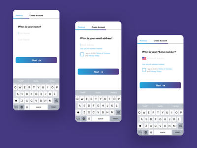 Sign up process design simplicity minimal flat button design ios app design ios app ui  ux uiux ui gradiant real estate realestate sign up signup