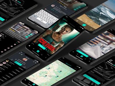 Wayo - iOS App - Dark Mode simplicity branding gradiant minimal flat button design dark theme dark mode dark app dark ui dark ios app design ios app ios