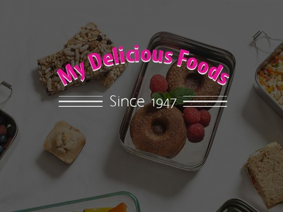 My Delicious Foods - Landing Page Design