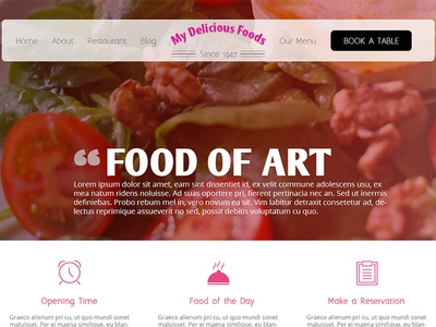 My Delicious Foods - Homepage Design