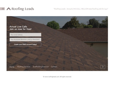 Roofing Leads - Minimal Web Design