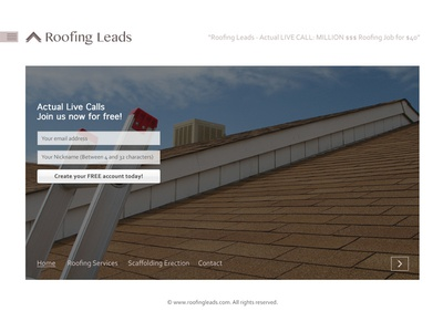 Roofing Leads - Minimal Website Template