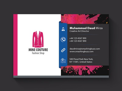 Free Stylish Business Card PSD Template