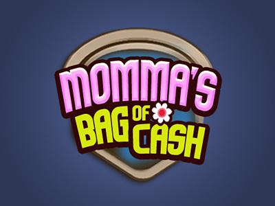 Momma's Bag of Cash type lettering icon branding design typography vector logo illustration