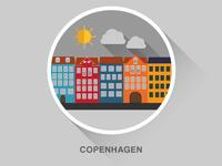 Copenhagen flat design