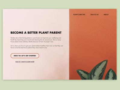 Plant Parent Landing Page