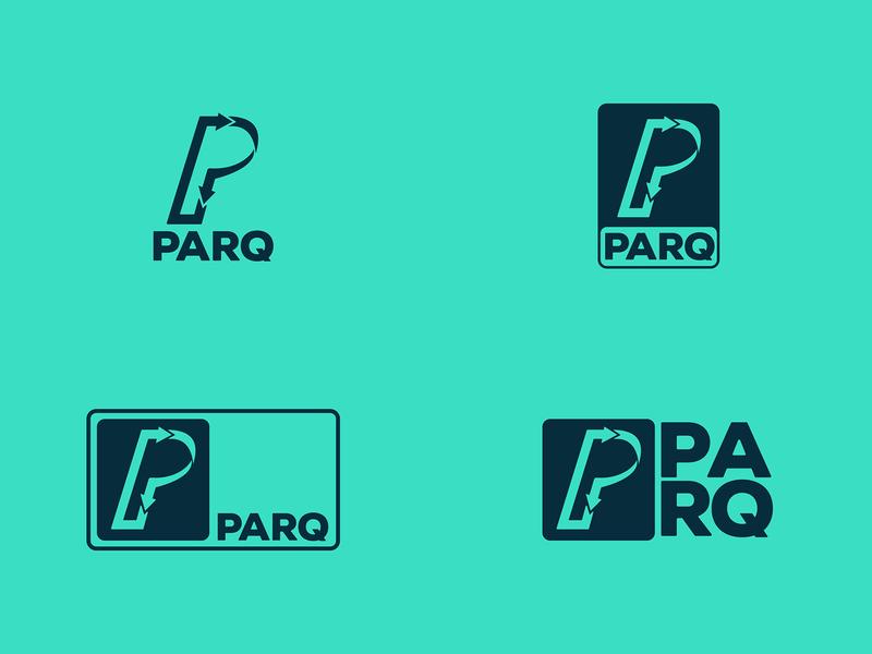 PARQ // Logo Lockup Exploration apartment parking drive logotype app bright typography illustrator design branding logo design logo lockup logo