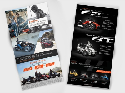 Can-Am Spyder // Brochure mobile print promotional sales brochure layout motorcycle
