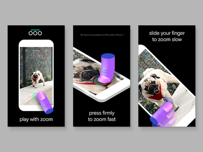 Ooo dog finger illustration app