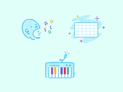 Kids Music Illustrations