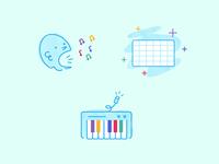 Kids Music Illustrations