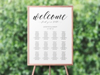 Free Seating Chart Template for Wedding