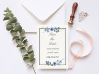 Free Floral Save The Date Invitation Template