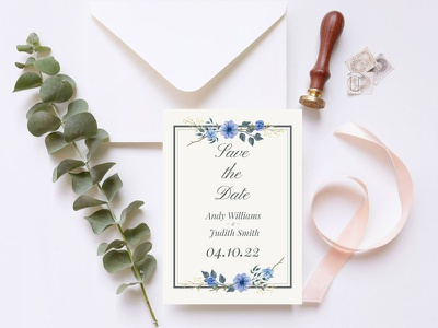 Free Floral Save The Date Invitation Template save the dates save the date interface design freebie freebies