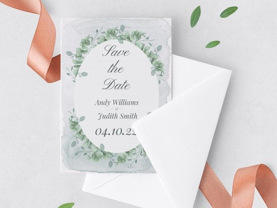 Free Save The Date Invitation Template in Floral Style floral invitation save the date design freebie freebies