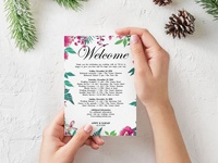 Free Classic Flower Wedding Invitation Template
