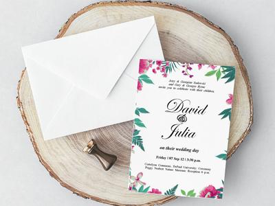 Free Classic MS Word Wedding Invitation Template