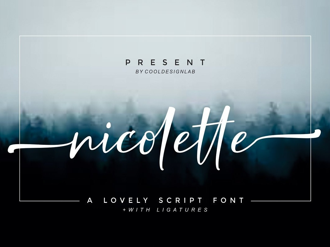 Nicolette Free Script Font badges posters news music titles labels signboards letterhead t-shirts wedding invitations signatures titles free script font script font free typeface free font typeface typography font