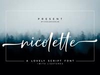 Nicolette Free Script Font