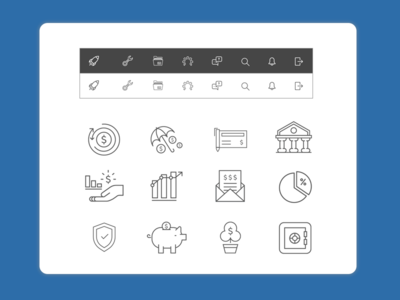Free Financial Icons Set (Sketch)