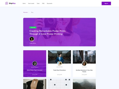 Free Blog Page Template (Sketch)