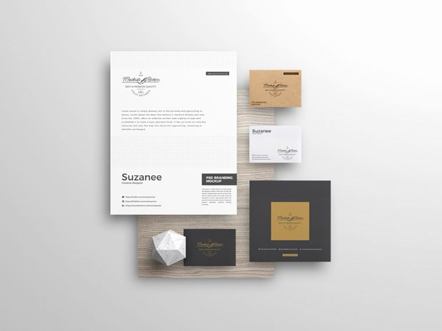 Free Stationery Branding Mockup Psd By Andy W On Dribbble