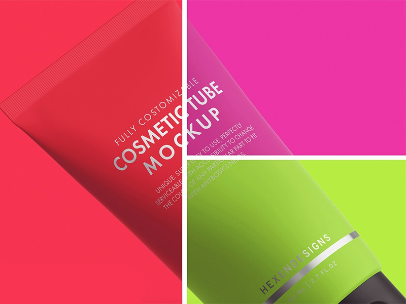 Free Cosmetic Tube PSD Mockup by Andy W on Dribbble