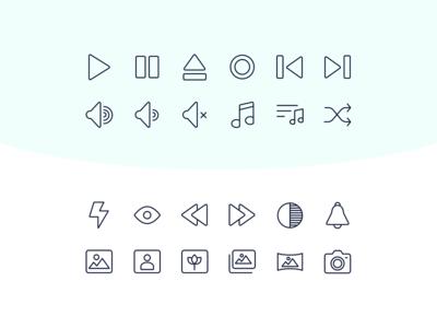 60 SVG free multimedia icons