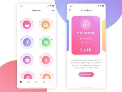 Free Colorful App Dashboard UI Template