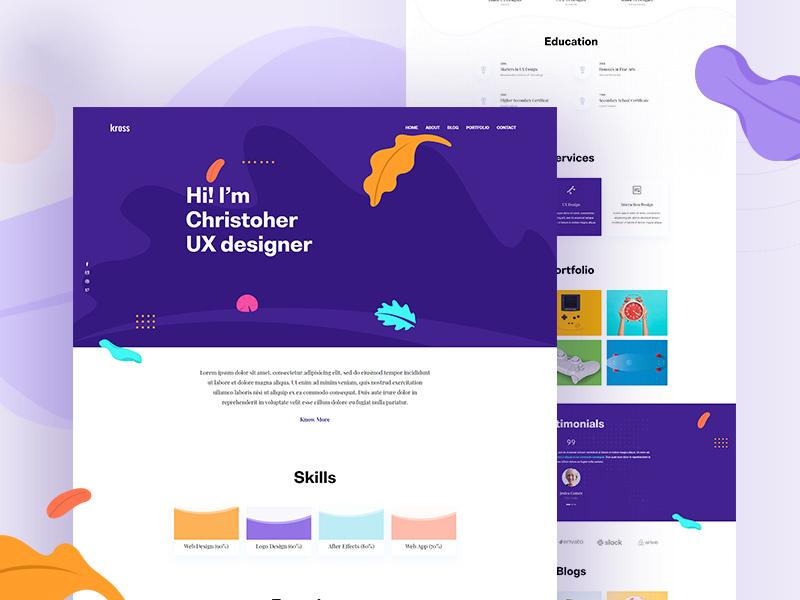 Free Creative Designer Web Template webdesign website design web design websites website ui interface design freebie freebies