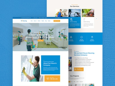 Free House Cleaning Website Template