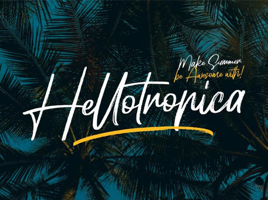Hellotropica Free Font fonts freee typeface typeface typography free font font interface design freebie freebies