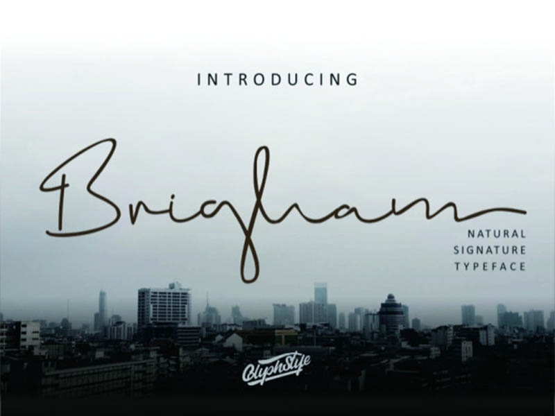 Brigham Signature Free Font free fonts free typeface typography free font design freebie freebies